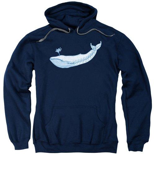 Blue Whale Sweatshirt by Eko Octavianus