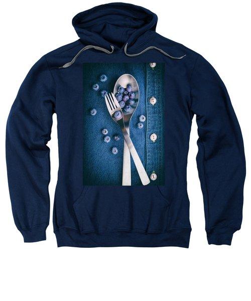 Blueberries On Denim II Sweatshirt by Tom Mc Nemar