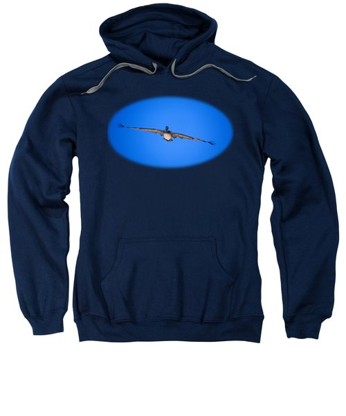 Brown Pelican Flying Sweatshirt by John Harmon