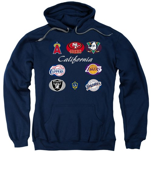 California Professional Sport Teams Collage  Sweatshirt by Movie Poster Prints