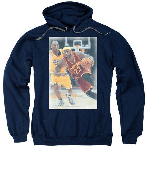 Cleveland Cavaliers Lebron James 3 Sweatshirt by Joe Hamilton