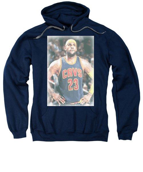 Cleveland Cavaliers Lebron James 5 Sweatshirt by Joe Hamilton