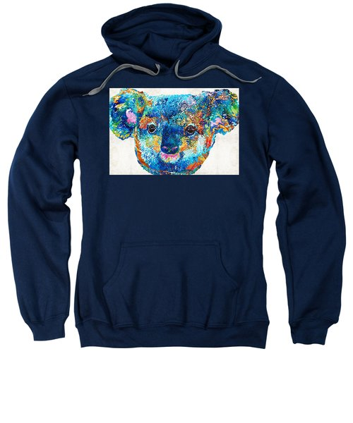 Colorful Koala Bear Art By Sharon Cummings Sweatshirt by Sharon Cummings