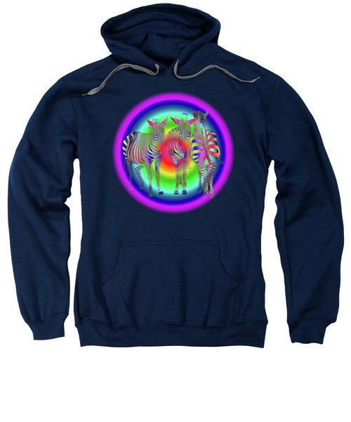 Disco Zebra Pop Art Sweatshirt by Gill Billington