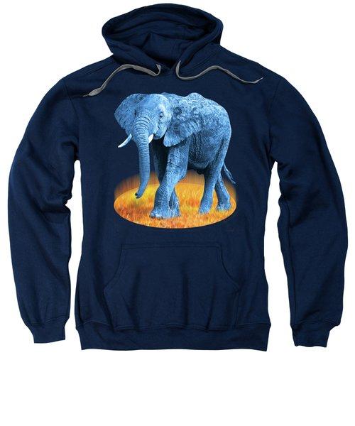 Elephant - World On Fire Sweatshirt by Gill Billington