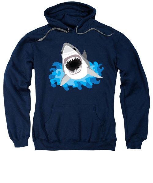 Great White Shark Leaps From Waves Sweatshirt by Antique Images