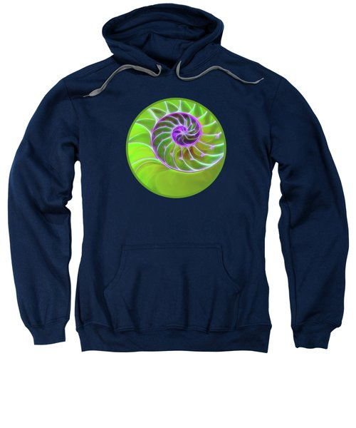 Green And Purple Spiral Sweatshirt by Gill Billington