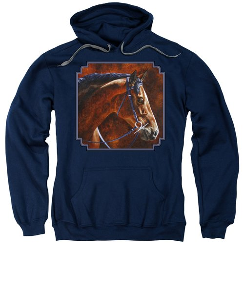 Horse Painting - Ziggy Sweatshirt by Crista Forest