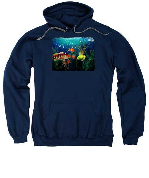 Joy To The Fishes  Sweatshirt by Terry Fleckney