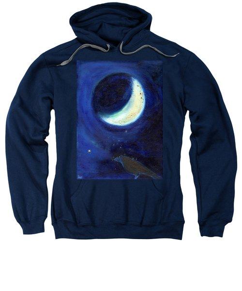 July Moon Sweatshirt by Nancy Moniz