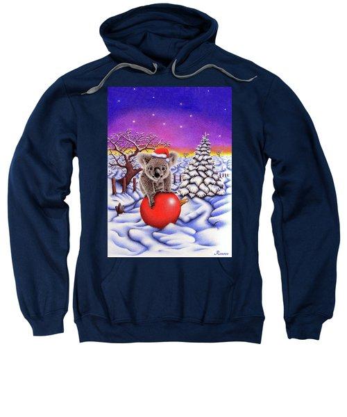 Koala On Christmas Ball Sweatshirt by Remrov