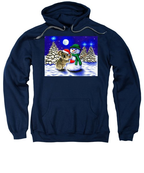 Koala With Snowman Sweatshirt by Remrov