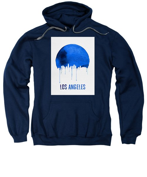 Los Angeles Skyline Blue Sweatshirt by Naxart Studio