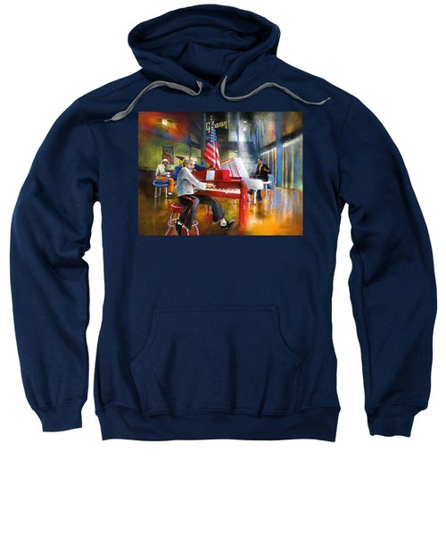 Memphis Nights 04 Sweatshirt by Miki De Goodaboom