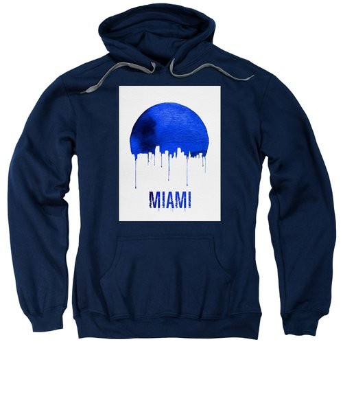 Miami Skyline Blue Sweatshirt by Naxart Studio