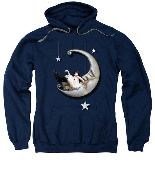 Paper Moon Sweatshirt by Linda Lees