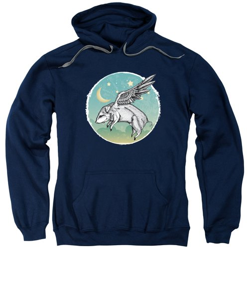 Pigs Fly - 2 Sweatshirt by Mary Machare