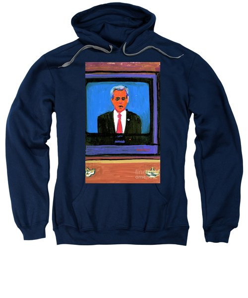 President George Bush Debate 2004 Sweatshirt by Candace Lovely