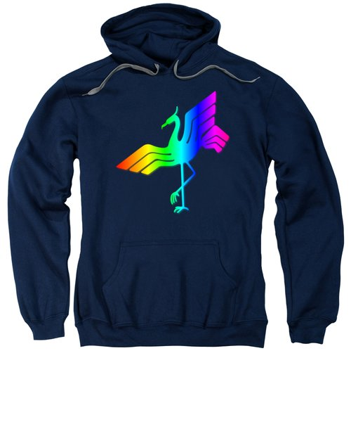 Rainbow Stork Sweatshirt by Frederick Holiday