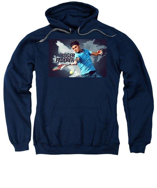 Roger Federer Sweatshirt by Semih Yurdabak
