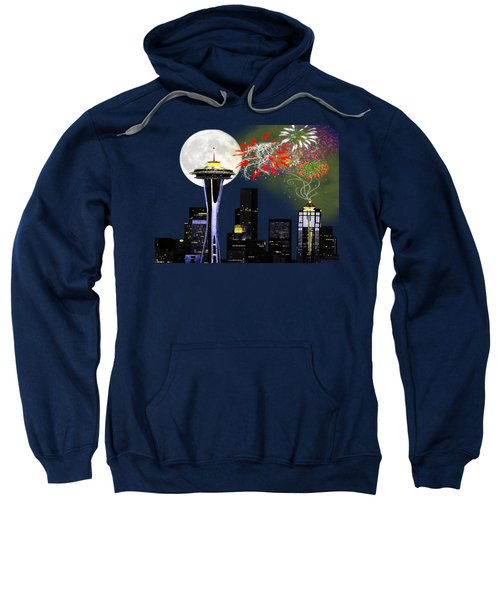 Seattle Skyline Sweatshirt by Methune Hively