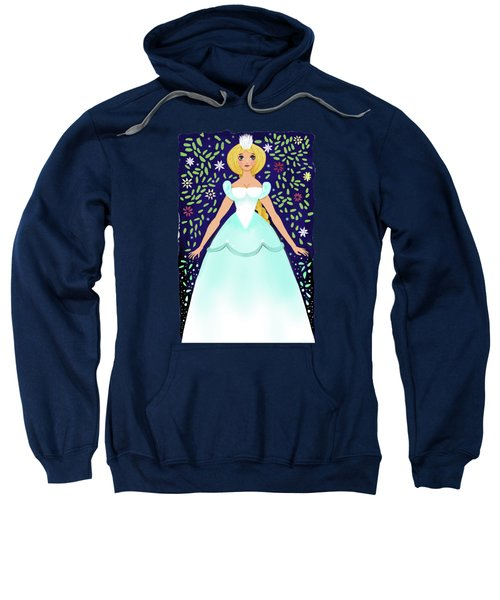The Winter Fairy Brings The First Frost  Sweatshirt by Little Bunny Sunshine