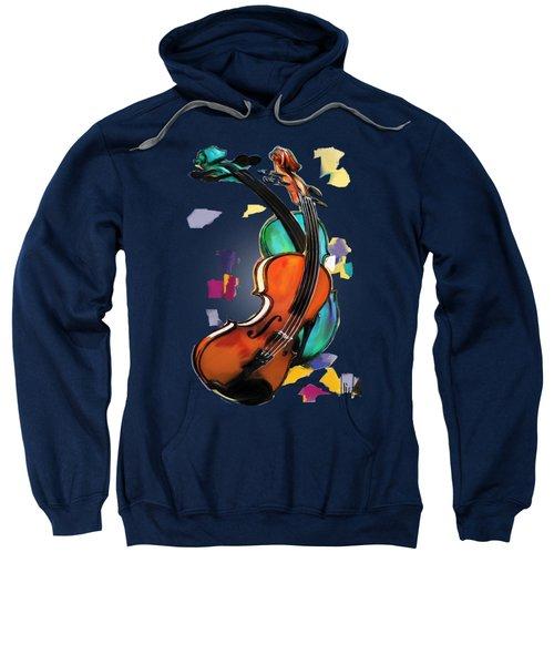 Violins Sweatshirt by Melanie D