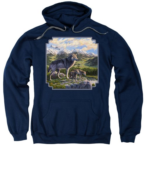 Wolf Painting - Passing It On Sweatshirt by Crista Forest