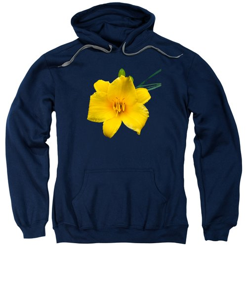 Yellow Daylily Flower Sweatshirt by Christina Rollo