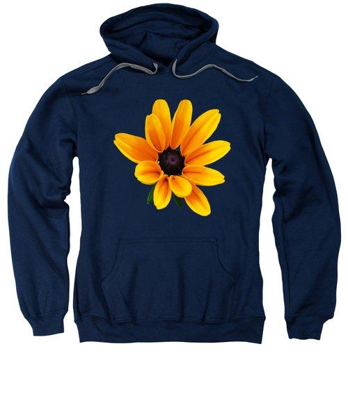 Yellow Flower Black-eyed Susan Sweatshirt by Christina Rollo