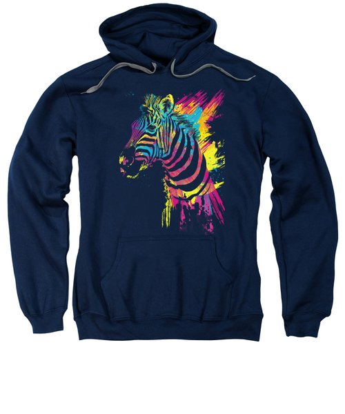Zebra Splatters Sweatshirt by Olga Shvartsur