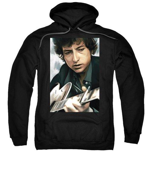Bob Dylan Artwork Sweatshirt by Sheraz A