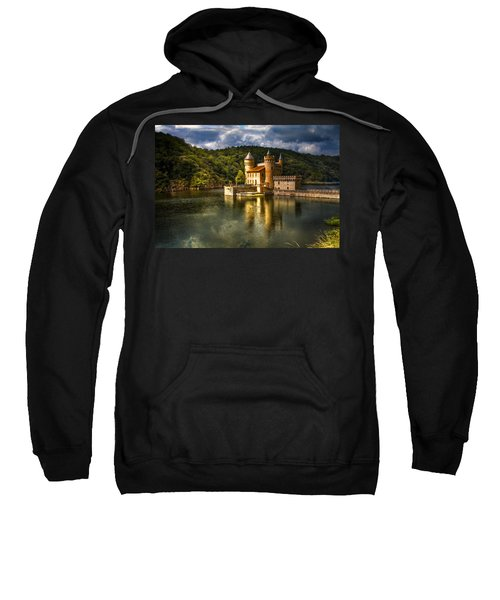 Chateau De La Roche Sweatshirt by Debra and Dave Vanderlaan