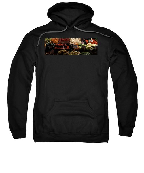 Fruits And Vegetables At A Market Sweatshirt by Panoramic Images