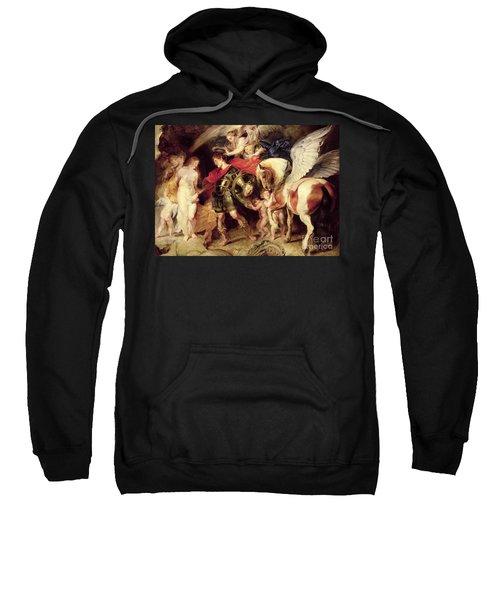 Perseus Liberating Andromeda Sweatshirt by Peter Paul Rubens