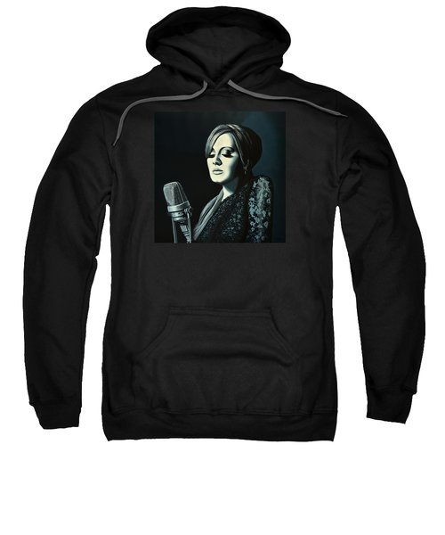 Adele Skyfall Painting Sweatshirt by Paul Meijering