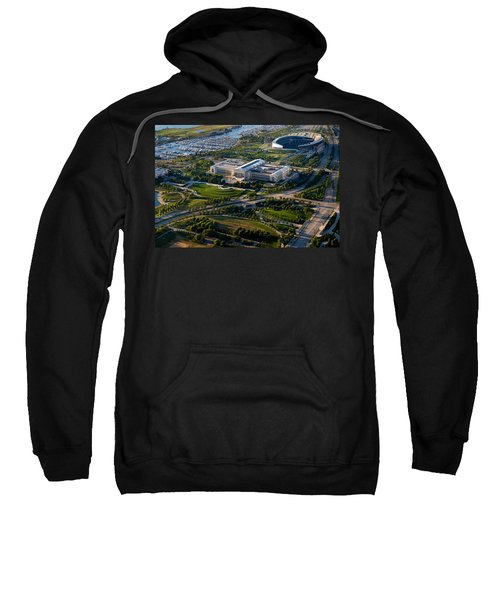 Aerial View Of The Field Museum Sweatshirt by Panoramic Images