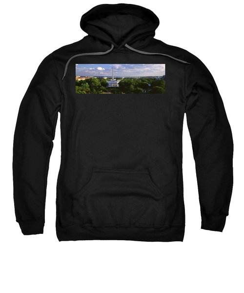 Aerial, White House, Washington Dc Sweatshirt by Panoramic Images