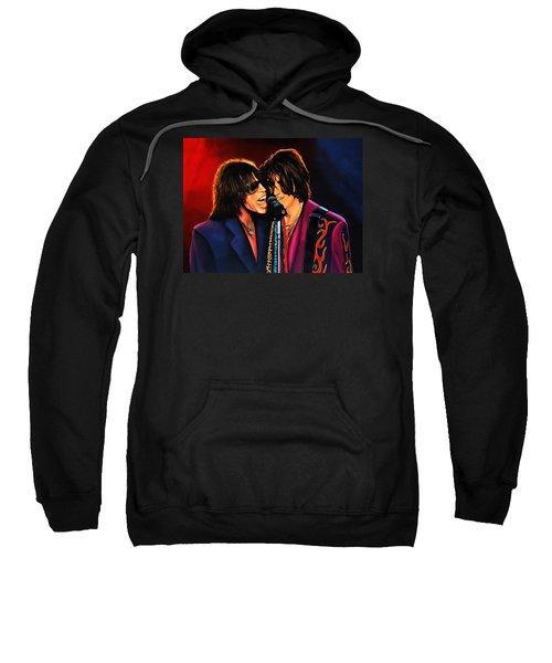 Aerosmith Toxic Twins Painting Sweatshirt by Paul Meijering