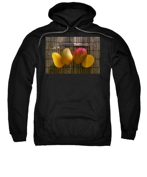 Agriculture - Sliced Sunrise Mango Sweatshirt by Daniel Hurst