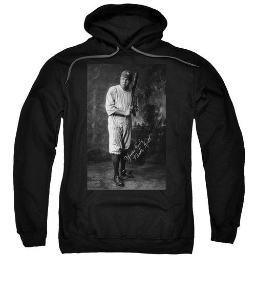 Babe 'the Sultan Of Swat' Ruth  1920 Sweatshirt by Daniel Hagerman