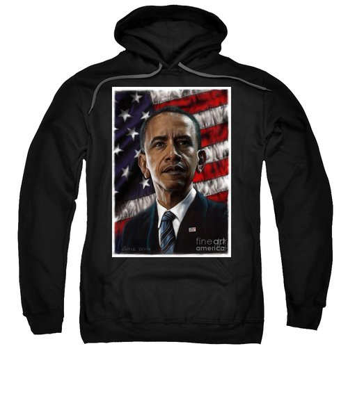 Barack Obama Sweatshirt by Andre Koekemoer