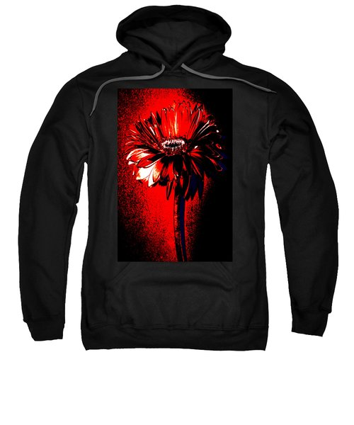 Bloody Mary Zinnia Sweatshirt by Sherry Allen