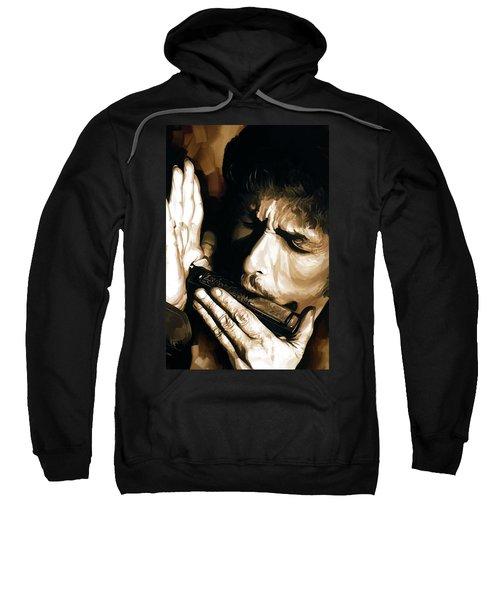 Bob Dylan Artwork 2 Sweatshirt by Sheraz A