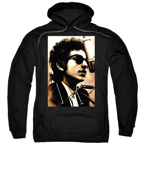 Bob Dylan Artwork 3 Sweatshirt by Sheraz A
