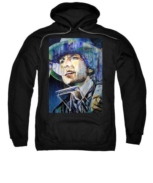 Bob Dylan Tangled Up In Blue Sweatshirt by Joshua Morton