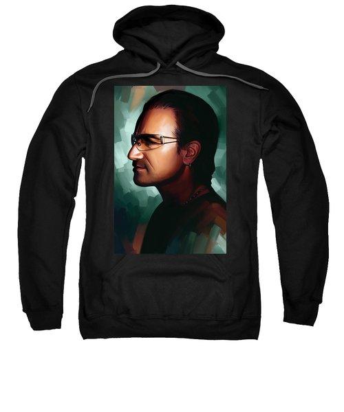 Bono U2 Artwork 1 Sweatshirt by Sheraz A