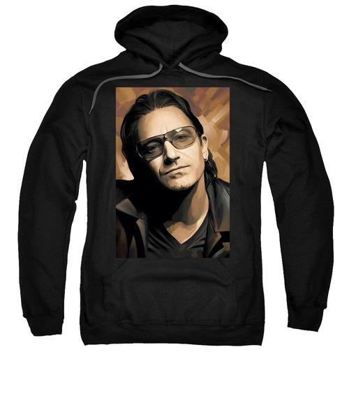 Bono U2 Artwork 2 Sweatshirt by Sheraz A