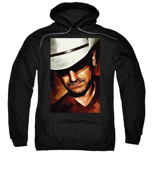 Bono U2 Artwork 3 Sweatshirt by Sheraz A