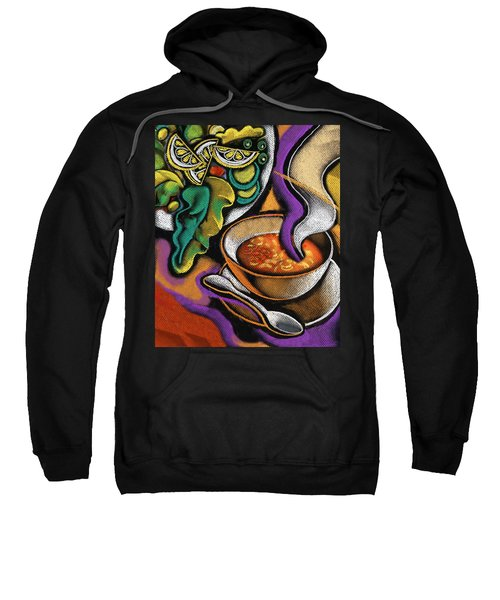 Bowl Of Soup Sweatshirt by Leon Zernitsky
